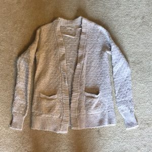 Tan cardigan from Anne Taylor Loft